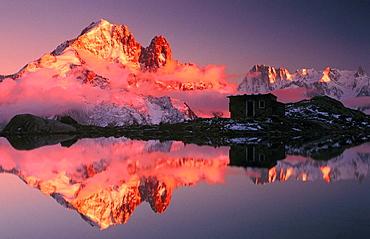 Lake Blanc in Chamonix Valley, Haute-Savoie, Rhone-Alpes, France
