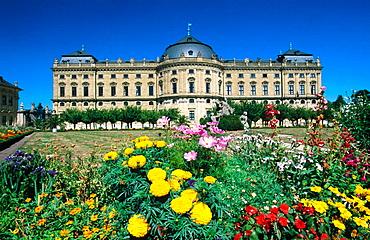 Baroque episcopal Residenz and gardens (a World Heritage Site), Wurzburg, Bavaria, Germany
