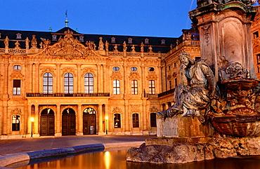 Baroque episcopal Residenz (a World Heritage Site), Wurzburg, Germany