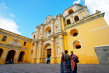 Colonial church of Nuestra Senora de la Merced (circa 1548 - rebuild 1976), Antigua Guatemala, Sacatepequez Region, Guatemala