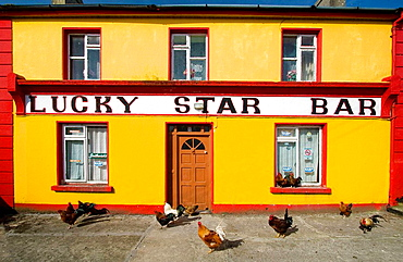 The Luchy Star Bar in Inishmore, the biggest of Aran Islands, Galway Co, Ireland