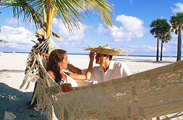 Couple on a caribbean beach