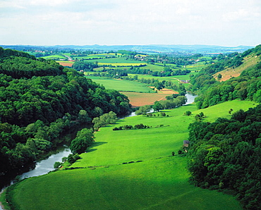 River Wye meanders, Herefordshire, England