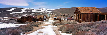 Green Street in Bodie State Historic Park (National Historic Landmark), California, USA