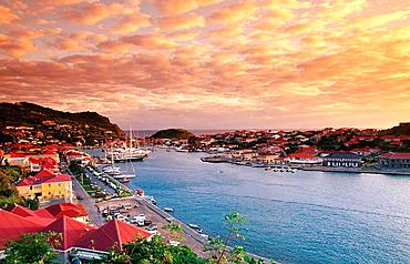 Harbour, Gustavia, St, Barts, Caribbean, West Indies (FR)