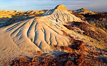 Detail of erosion patterns in badlands environment, Dinosaur Provincial Park, Alberta