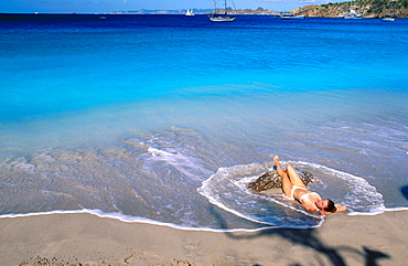 Colombier Bay, St, Barts, Caribbean