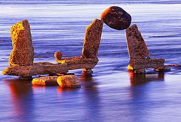 Inukshuks, Ottawa River, Canada