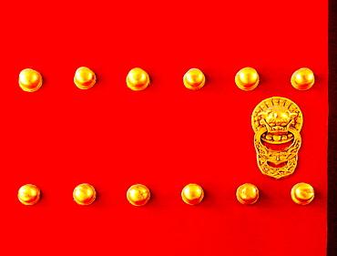 Deatil of Door, The Temple of Heaven, Beijing, China