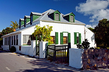 Typical architecture in Cockburn Town, Grand Turk, Turks and Caicos Islands, British Overseas Territories, 2008