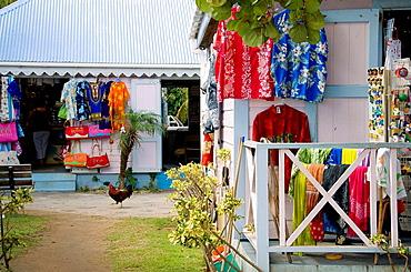 Tourist gift shops in Road Town, Tortola, British Virgin Islands, 2008