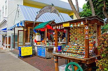 Duval Village kiosks in Key West, Florida, USA, 2008