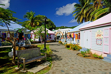 Tourist craft and gift shops in Road Town, Tortola, British Virgin Islands, 2008