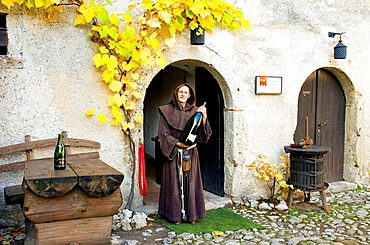 A wine cellar attendant at the castle in Bled, Slovenia