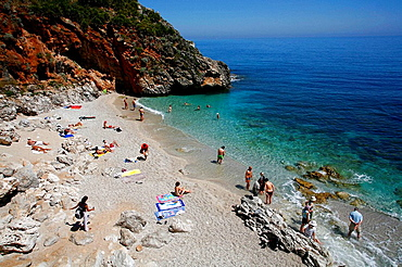 People bathing at Riserva Naturale Dello Zingaro