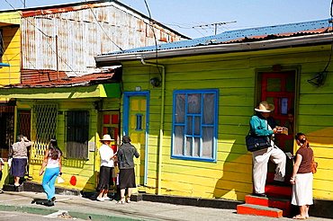 Colorful houses in San Jose, Costa Rica