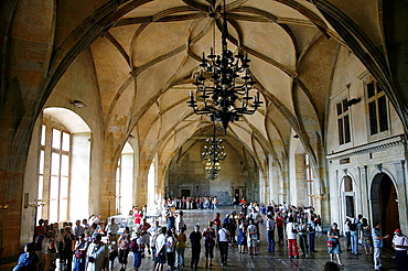 The Old Royal Palace, Vladislav hall, at Prague Castle, Hradcany, Prague, Czech Republic