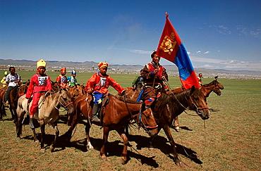 Horse racing, Naadam festival, Mongolia