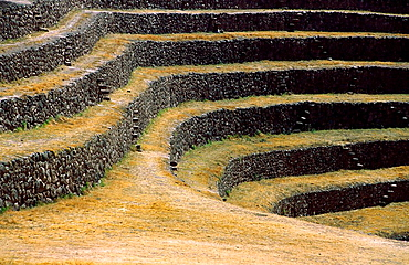 Moray, Incan agricultural experiment site, Sacred Valley, Cuzco, Peru