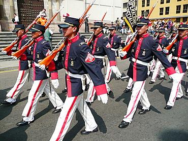 Military parade, Lima, Peru