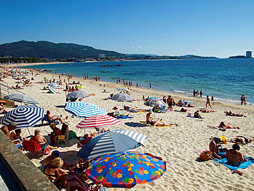 Playa de Samil, Vigo, Pontevedra province, Galicia, Spain