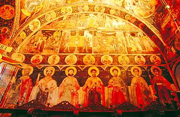 Frescoes in Hagia Triada Monastery, Thessaly, Greece