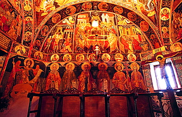 Frescos in the Katholikon (main church) of the Greek Orthodox Holy Monastery of Holy Trinity, Meteora, Thessaly, Greece