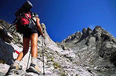 Mytikas peak (2918 m) on Mount Olympus, Macedonia, Greece
