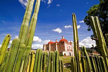 Spanish Colonial church built on top of pre-Columbian ruins, San Pablo Villa de Mitla, Oaxaca, Mexico