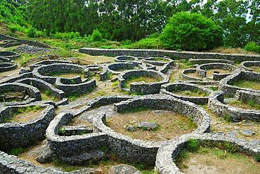 'Castro' (old fortified settlement) of Santa Tecla, Pontevedra province, Galicia, Spain