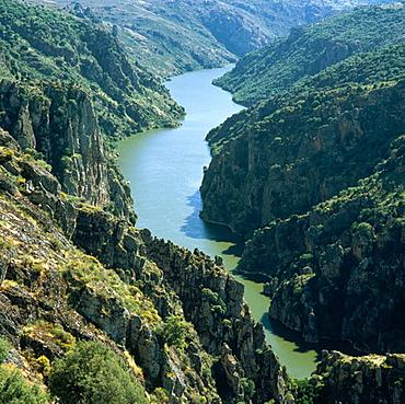 Arribes del Duero, view from Virgen del Castillo viewpoint, Fariza, Zamora province, Castile-Leon, Spain