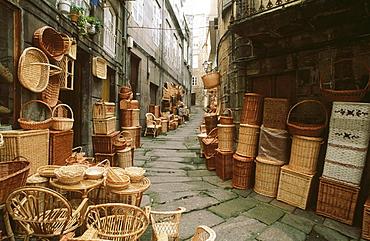 Old town, Vigo, Pontevedra province, Galicia, Spain