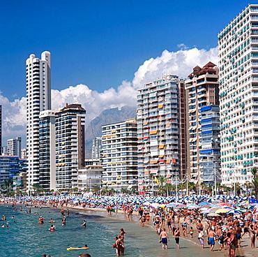 Levante beach, Benidorm, Costa Blanca, Alicante province, Spain