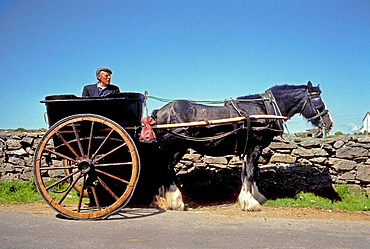 Cart in Inishmore, one of the Aran Islands, Co, Galway, Ireland