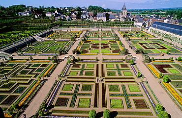 Villandry Renaissance Castle, Indre and Loire, Tourraine, France