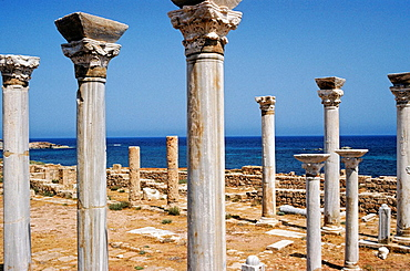 Harbour of Apollonia, Cyrene, the most important Greek city in North Africa (VIIth century BC), Cyrenaica, Libya, Africa