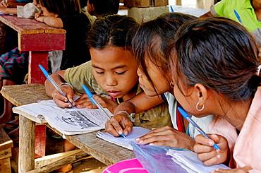 Local school, Kamu ethnic group village, Pakbeng area, Laos