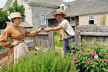 Ross farm, Upper Canada Village, 1860s village, Heritage Park, Morrisburg, Ontario Province, Canada