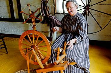Dressmaker, Upper Canada Village, 1860s village, Heritage Park, Morrisburg, Ontario Province, Canada