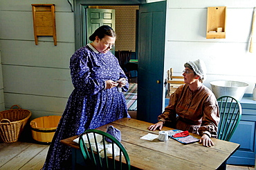 Physician's home, Upper Canada Village, 1860s village, Heritage Park, Morrisburg, Ontario Province, Canada