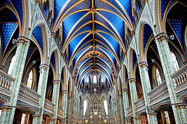 Cathedral and Basilica of Notre Dame (1839-1885), It stands on the site that was occupied by the first Catholic chapel, City of Ottawa (federal capital), Ontario Province, Canada