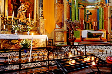 High altar (19th century), Parish church of Saint-Martin, Island of Re, Atlantic coast, Charente-Maritime, France