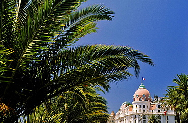 Negresco Hotel, In its style reminiscent of the Belle Epoque, the Negresco was built by Edouard Niermans in 1912, 'Promenade des Anglais', City of Nice, Alpes-Maritimes, Cote d'Azur, France