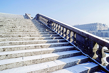 The Hundred Steps monumental staircase, Versailles Palace, Yvelines, ile de France, France