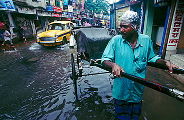 Monsoon in Calcutta, West Bengal, India