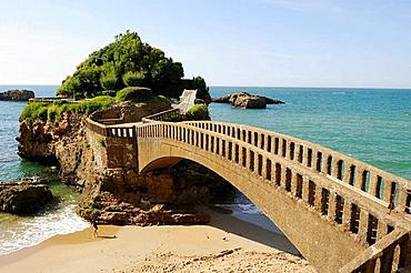 Coastal promenade, Biarritz, Pyrenees-Atlantiques, Aquitaine, France