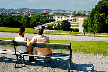 Tourists enjoying the Vienna skyline, Austria, 2006