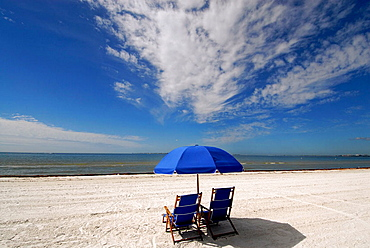 Fort Myers Beach is a popular tourist snowbird student spring break destination recreation and vacation holiday, Florida, USA