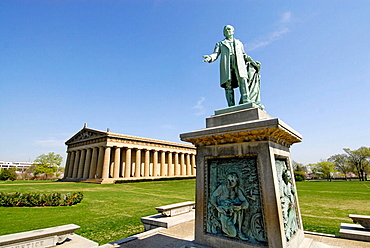 The Parthenon in Centennial Park Nashville Tennessee, USA