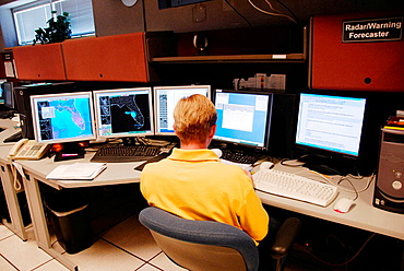 Meteorologist in Technology Work Area in National Oceanic and Atmospheric Administration (NOAA), National Weather Service Station, Ruskin, Florida, Tampa, Hillsborough County Gulf West Central, USA